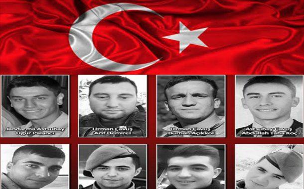 Şehitlerimiz var; Yiğitler Türk ulusu sizlere minnettardır.