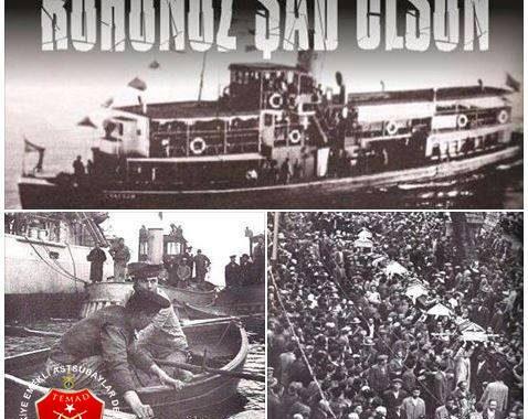 1 MART 1958 Üsküdar vapuru şehitlerimizi saygıyla anıyoruz.