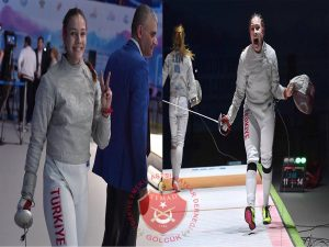 Türk eskriminde tarihi zafer: Deniz Selin Ünlüdağ, Avrupa şampiyonu oldu.