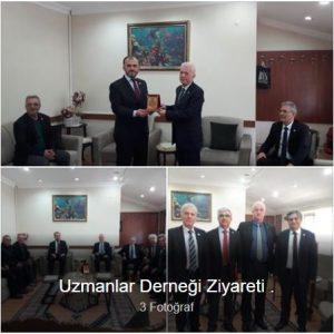 Uzmanlar Derneği Başkanı Sayın Selim KARGI ve yönetimi ziyaretimize geldi.