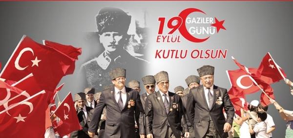 Başta, Ebedi Başkomutan Gazi Mareşal Mustafa Kemal ATATÜRK olmak üzere gazilerimizin günü kutlu olsun. Türk ulusu sizlere minnettardır.
