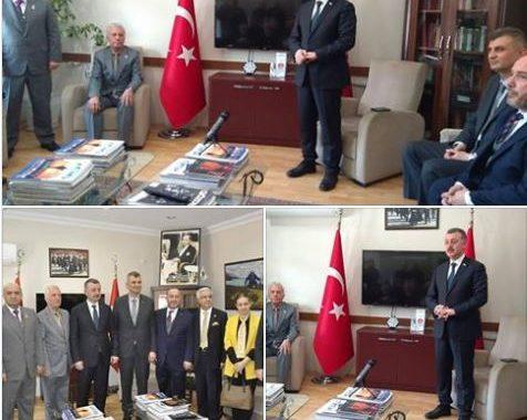Kocaeli Büyükşehir belediye başkan adayı Sayın Tahir BÜYÜKAKIN Gölcük Belediye başkan adayı Sayın Ali Yıldırım SEZER ve heyeti derneğimizi ziyaret ettiler...