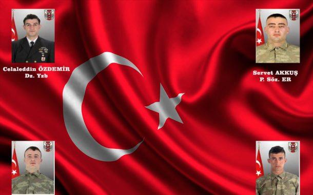 Şehitlerimiz var; Yiğitler Türk ulusu sizlere minnettardır. Tininiz kutlu, yurdunuz uçmağ olsun.