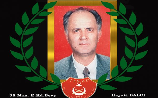 1958 mezunu E. Seyir Kd. Bçvş. Hayati BALCI vefat etmiştir. Mekanı cennet olsun. Merhum 16 Haziran Pazar günü ikindi namazı sonrası Değirmendere merkez caminden ebedi istirahatgahına uğurlanacaktır.