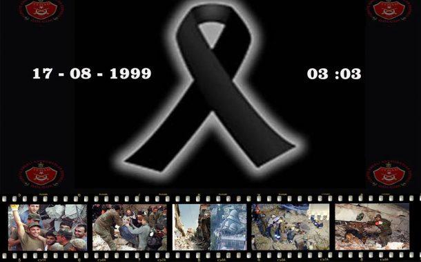 17 Ağustos depreminde hayatını kaybedenleri rahmetle anıyoruz.