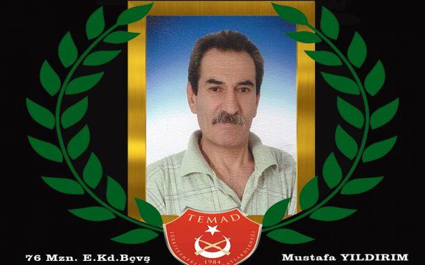 1976 Mezunu E.Kd.Bçvş. Mustafa YILDIRIM hakkın rahmetine kavuşmuştur. Mekanı cennet olsun. Merhum 31 Aralık Salı günü ikindi namazı sonrası Gölcük merkez caminden ebedi istirahatgahına uğurlanacaktır.
