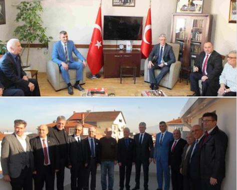 AKP Kocaeli il başkanı Sn.Mehmet ELLİBEŞ ,Gölcük belediye başkanı Sn.Ali Yıldırım SEZER , AKP Gölcük ilçe başkanı Sn. Çetin SEYMEN ve yönetim kurulu üyeleri derneğimizi ziyaret ettiler.