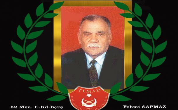 1952 mezunu E. Kd.Bçvş. Fehmi SAPMAZ hakkın rahmetine kavuşmuştur. Merhum 9 Şubat ikindi namazı Değirmendere merkez caminden  ebedi istirahatgahına uğurlanacaktır.