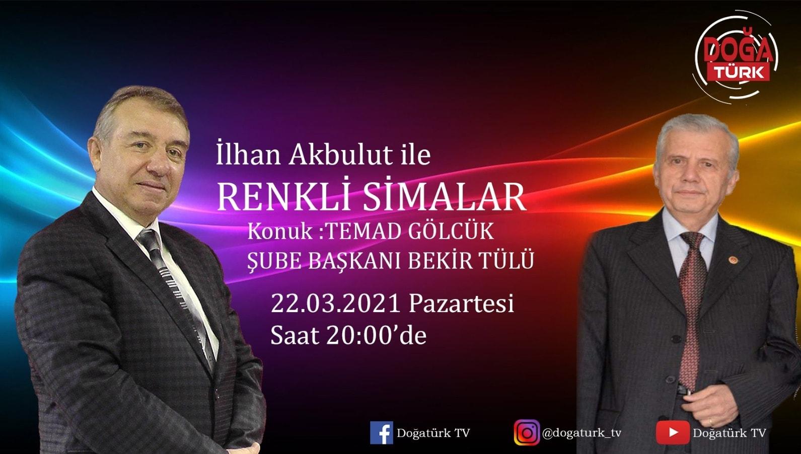 Renkli Simalar'da bu hafta TEMAD Gölcük Şube Başkanı sayın Bekir Tülü ile birlikte olacağız.