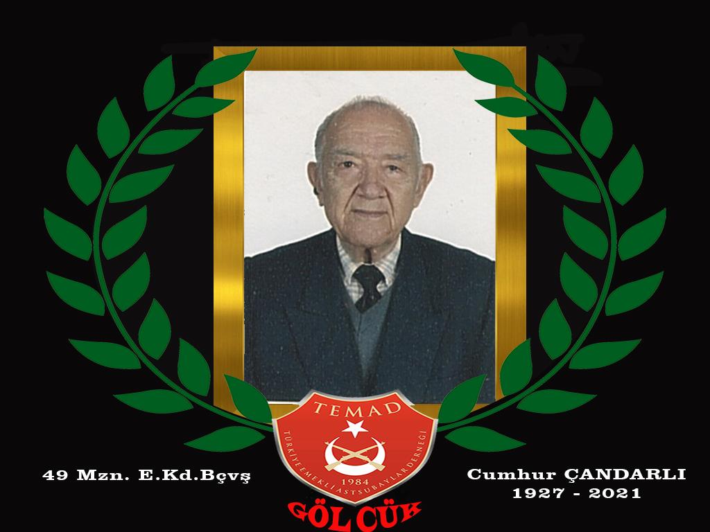 1949 mezunu E.Kd.Bçvş Cumhur ÇANDARLI hakkın rahmetine kavuşmuştur.