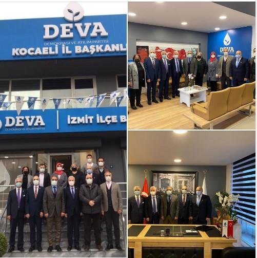 Deva Partisi Kocaeli İl Başkanı Sayın Adem KOÇ ve Yönetim Kurulunu ziyaret ettik.